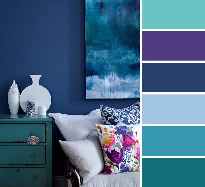 This Living Room Is Fresh Sophisticated We Pulled 6 Colours That Tie This Room Together Come Into Our St Room Color Schemes Purple Living Room Room Colors #purple #and #teal #living #room
