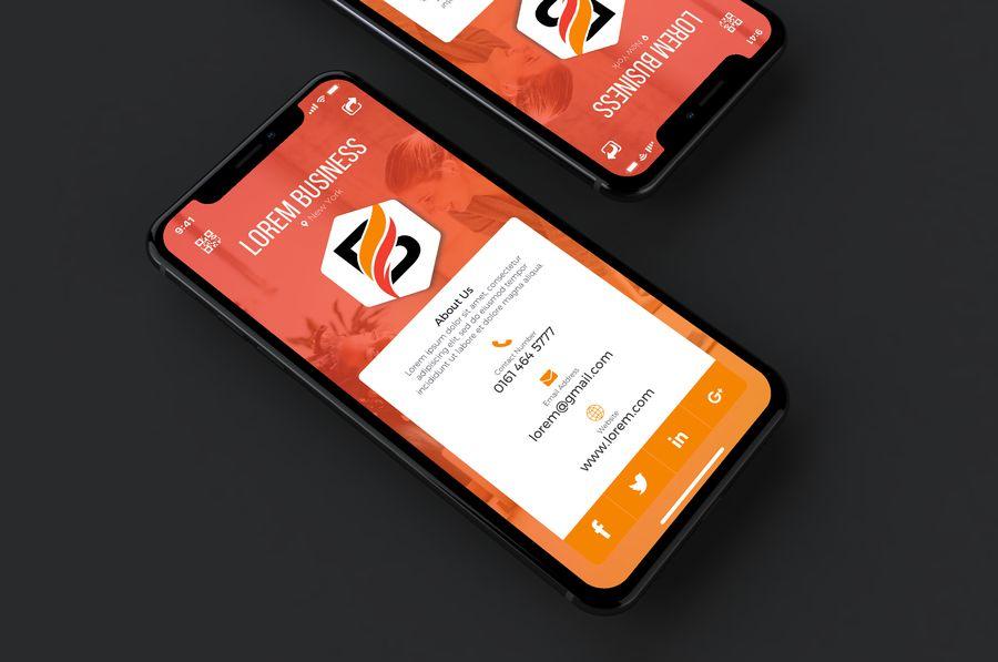 Pin On Digital Business Card Design