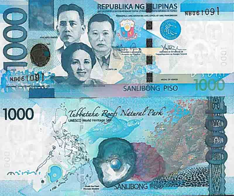 Banknote Collection Philippines Pick N 211 1000 Pesos La Maison Du Collectionneur Banknote Collection Cute Art Styles Philippine Peso