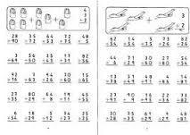 Resultado de imagen para fichas sumas de dos cifras sin llevar