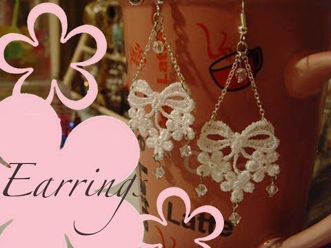 ▶ DIY: MeiIris' Lovely Lace Earrings Tutorial - YouTube