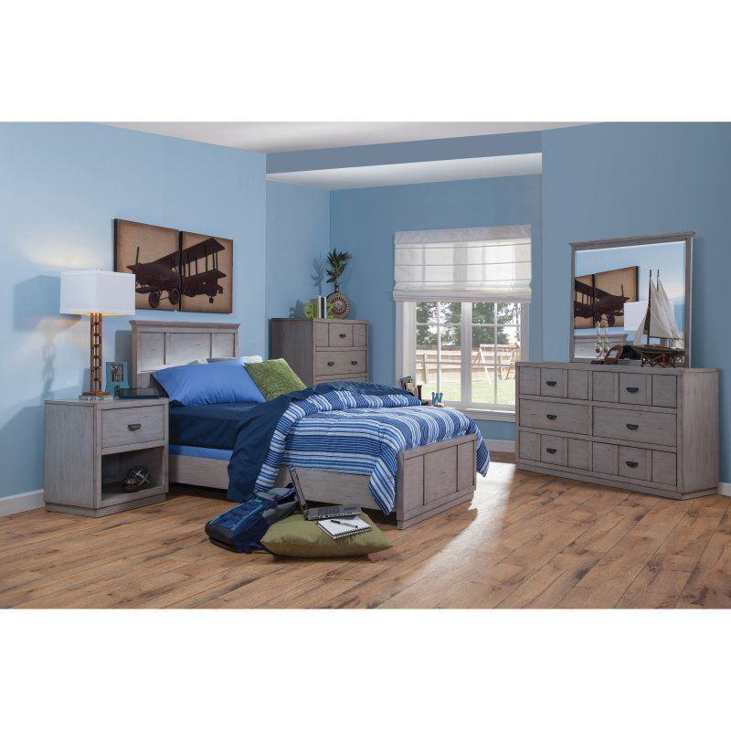 American Woodcrafters Provo Panel Bed With Optional Trundle