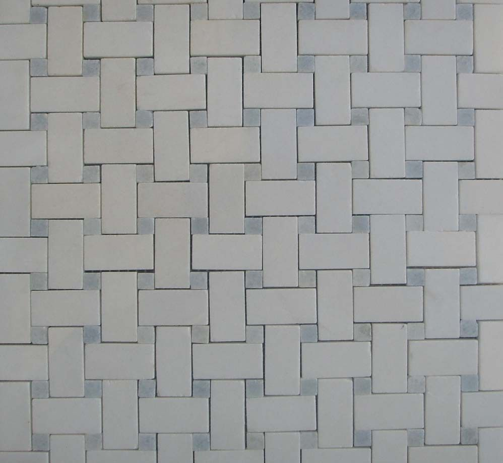 43 Sf Blue Celeste And Thos Basketweave Mosaic