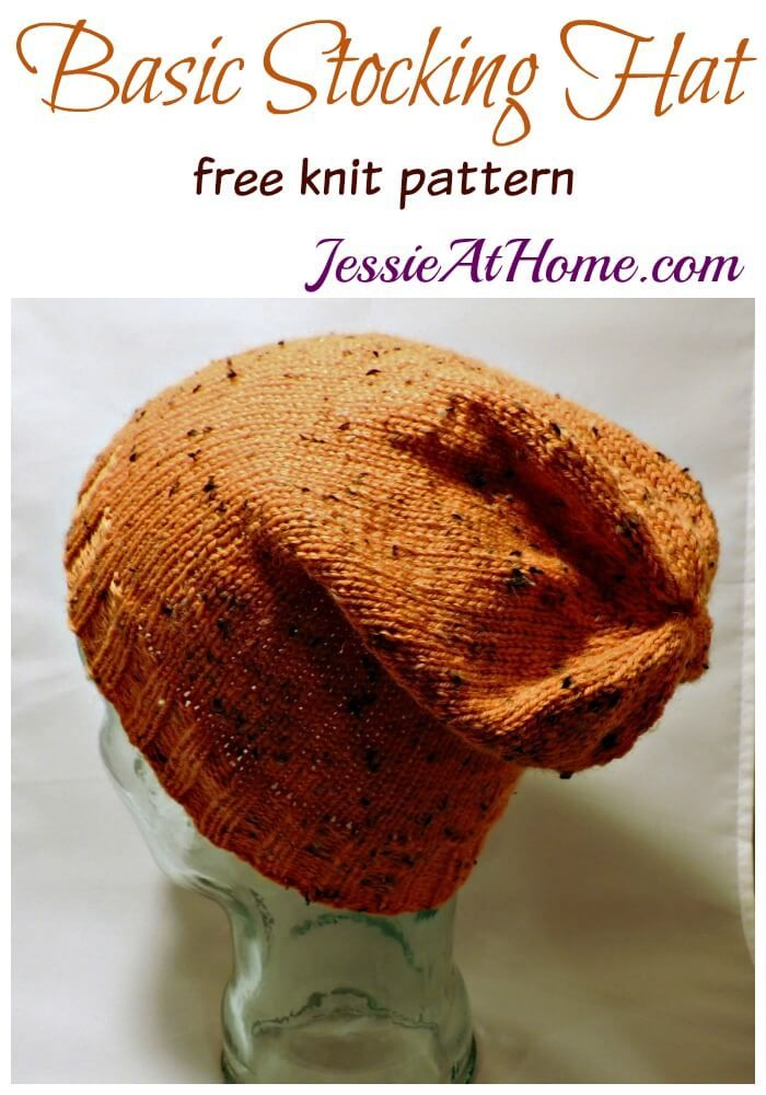 Basic Stocking Hat - free knit pattern by Jessie At Home | Knit ...