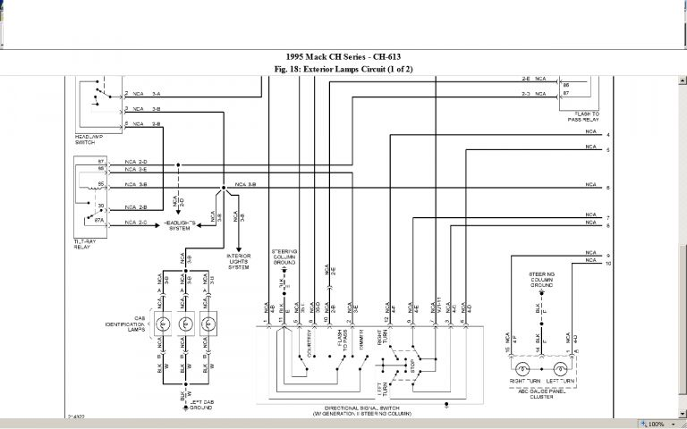 10 2000 Mack Truck Fuse Diagram Mack Trucks Trucks Fuse Box