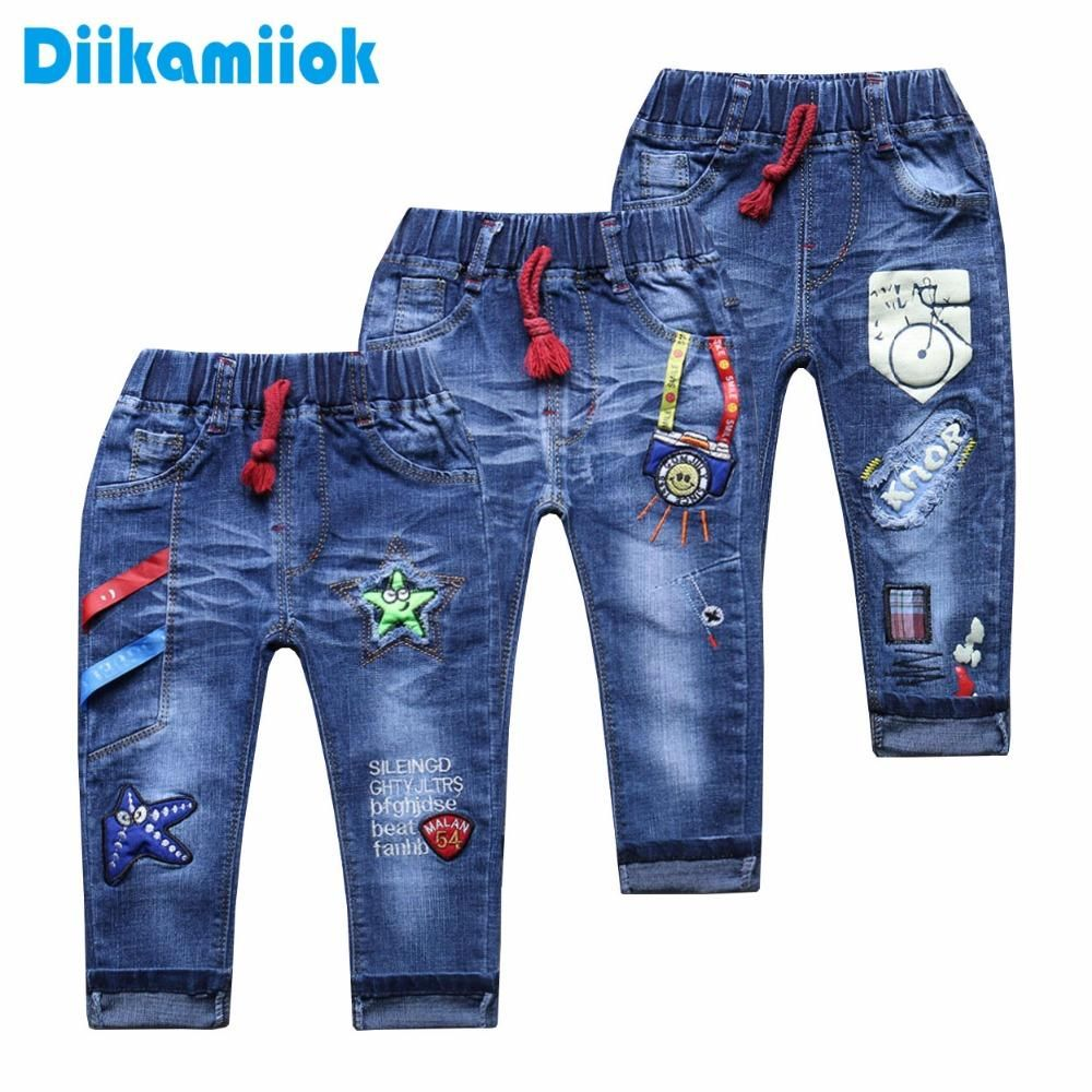 9004aae2a 2018 Fashion baby boys jeans for kids pants children clothing 0-6 Year  girls casual pants trousers straight denim spring autumn