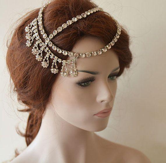 Wedding Hair Accessory Bridal Head Chain By Adbrdal