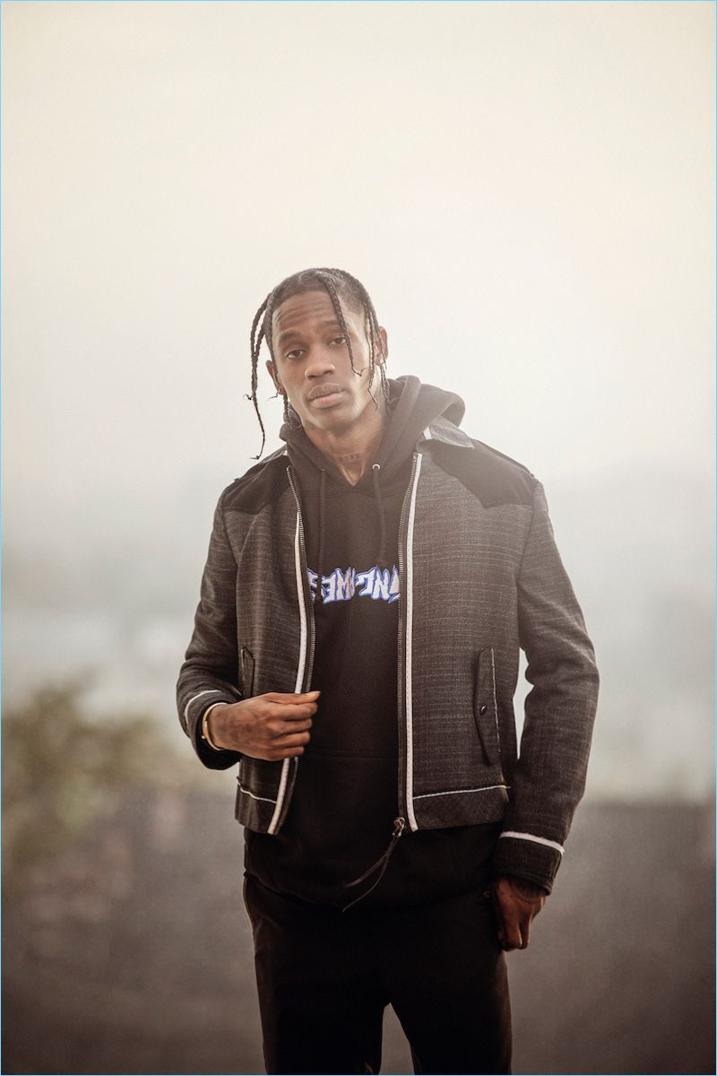 Travis Scott Covers Man in Town, Talks Fashion & Style #travisscottwallpapers