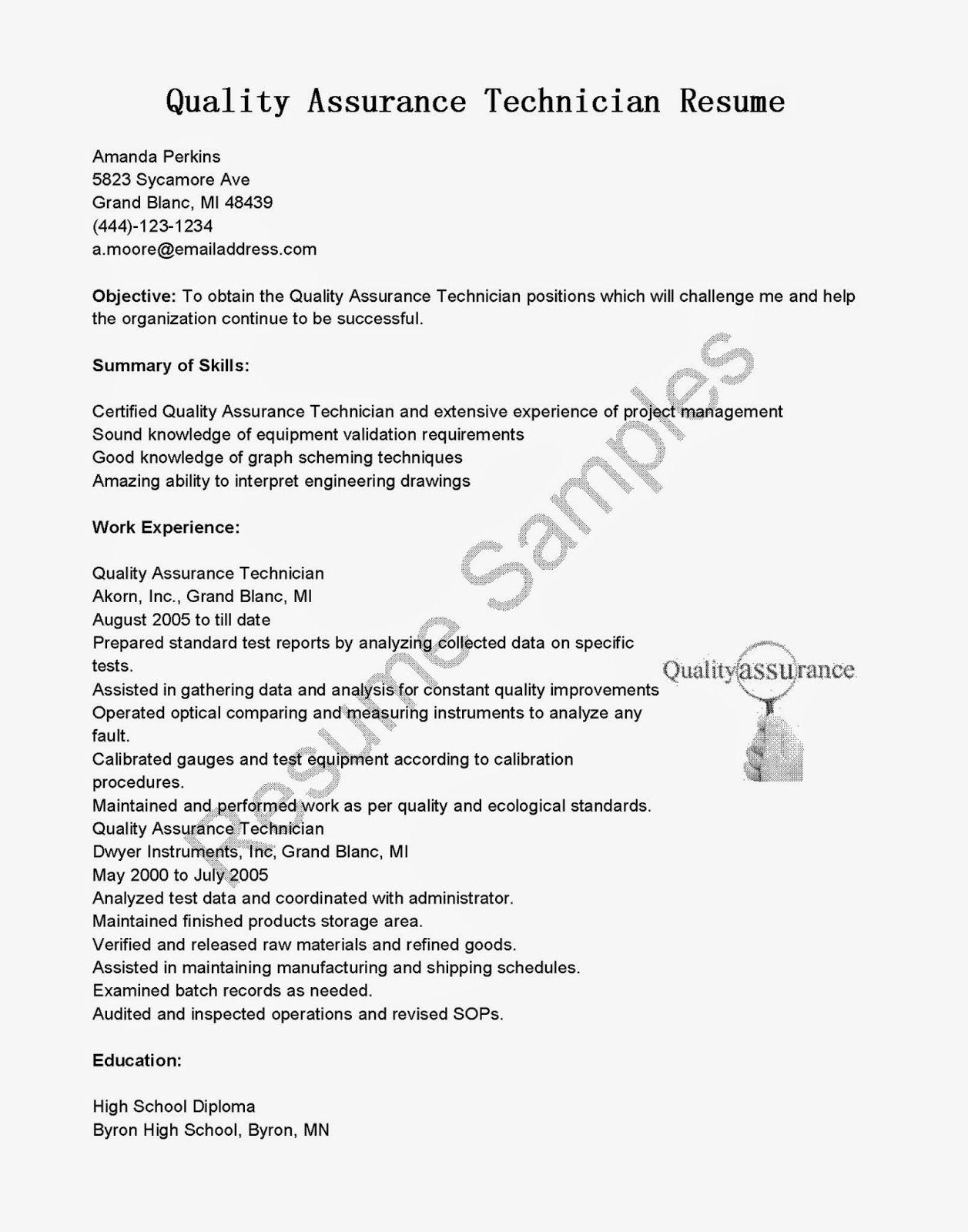 Quality Assurance Pharma 3 Resume Format Best Cover