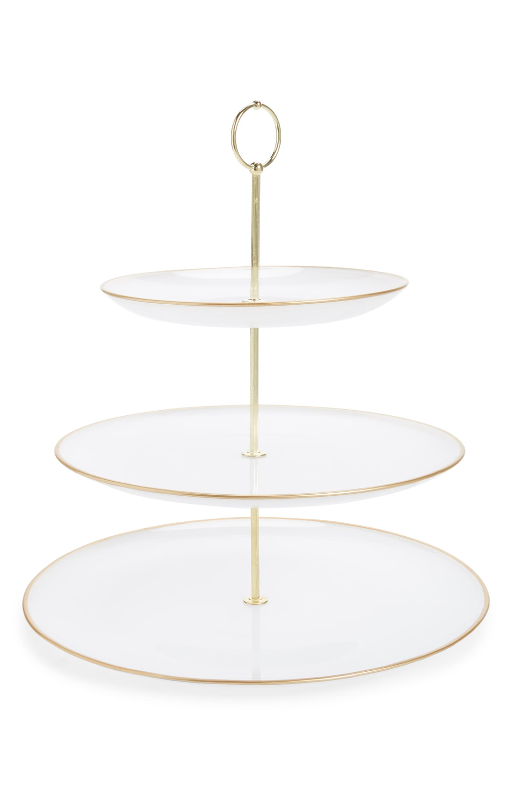 Anthropologie Swirl Three Tier Serving Stand Serving Stand Three Tier Serving Stand Tiered Serving Stand