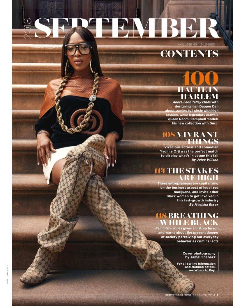 39e8ef6a29 Naomi Campbell Rocks Throwback Styles for Essence Magazine