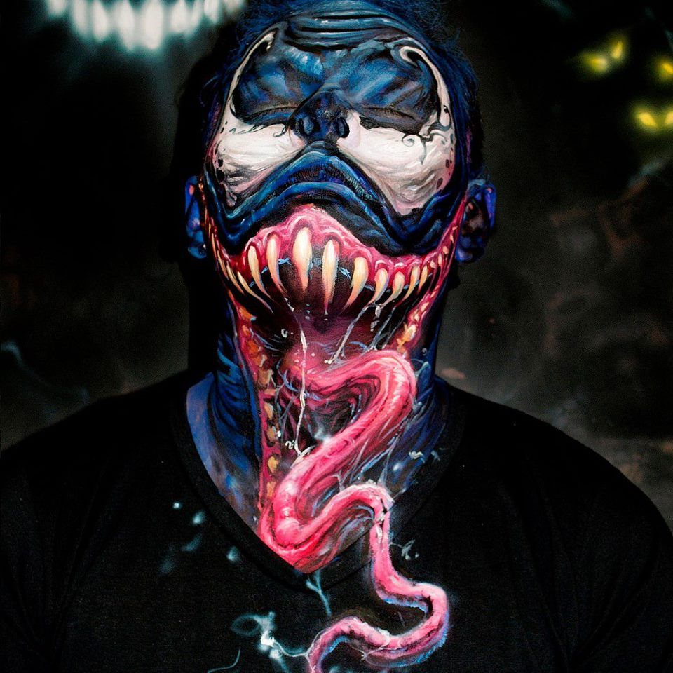 Female Venom profile | Body painting, Body art painting ...