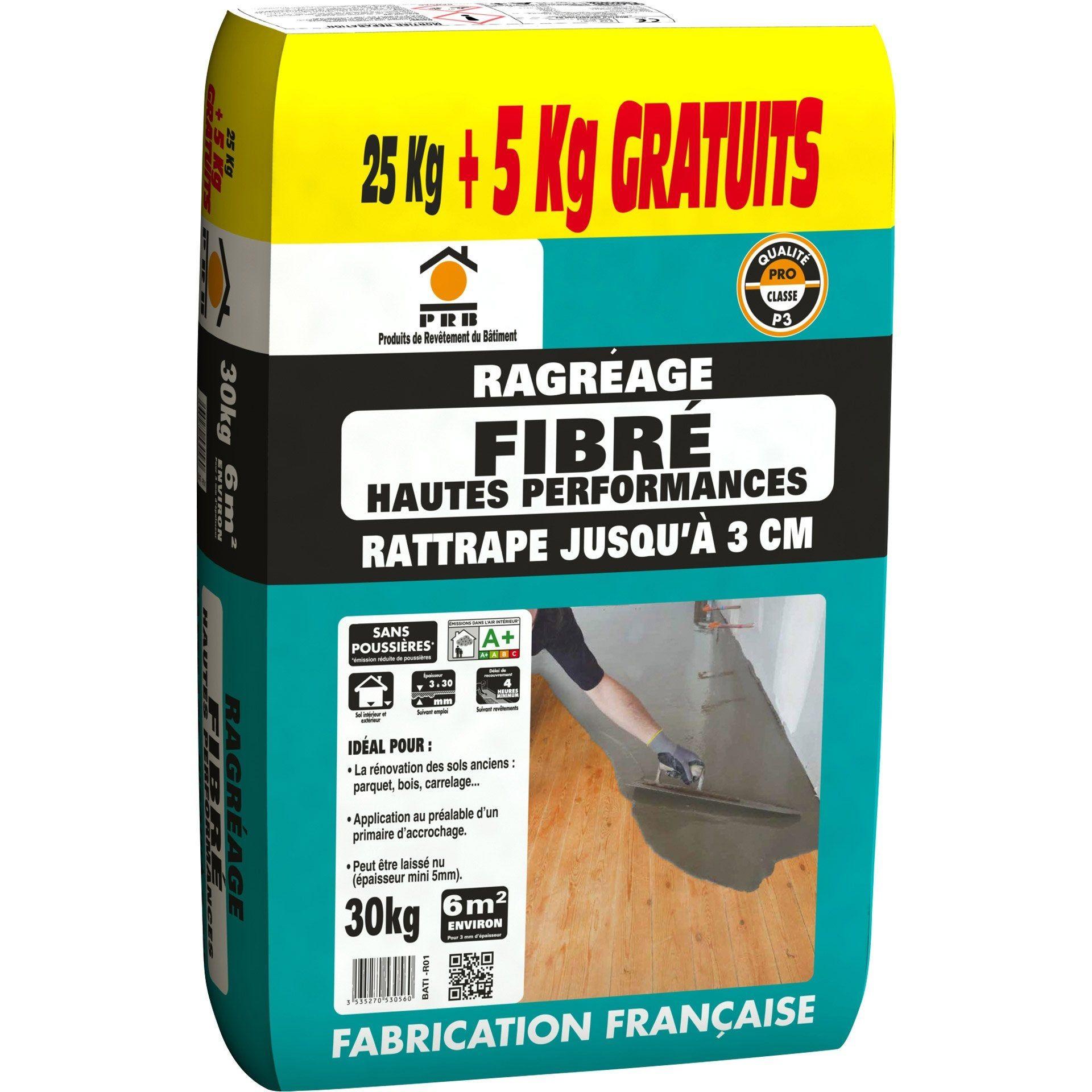 Ragreage Fibre Hautes Performances Prb 30 Kg Fibre Haut Sdb