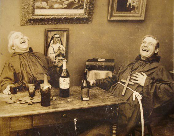 I wonder what they find so funny? Oh yeah, it could just be the absinthe....