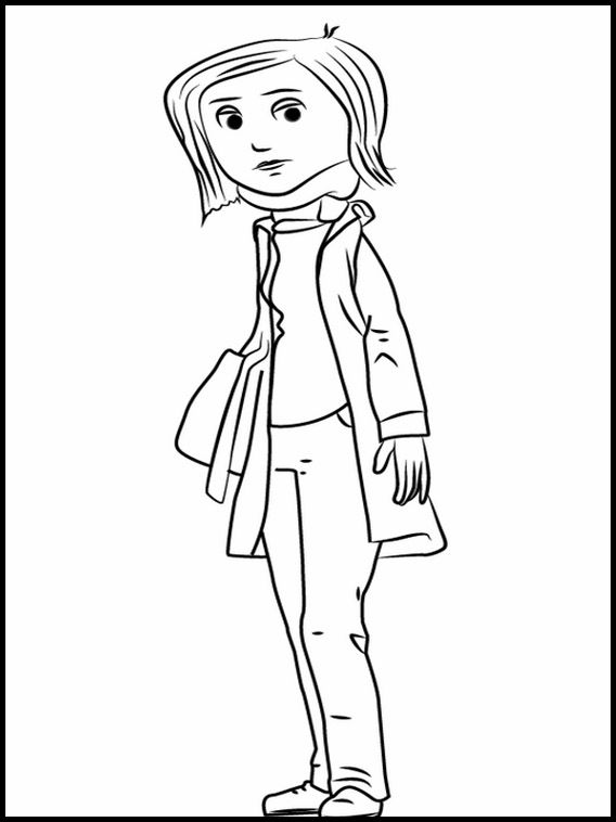 Printable coloring pages for kids Coraline 5 | Coloring ...