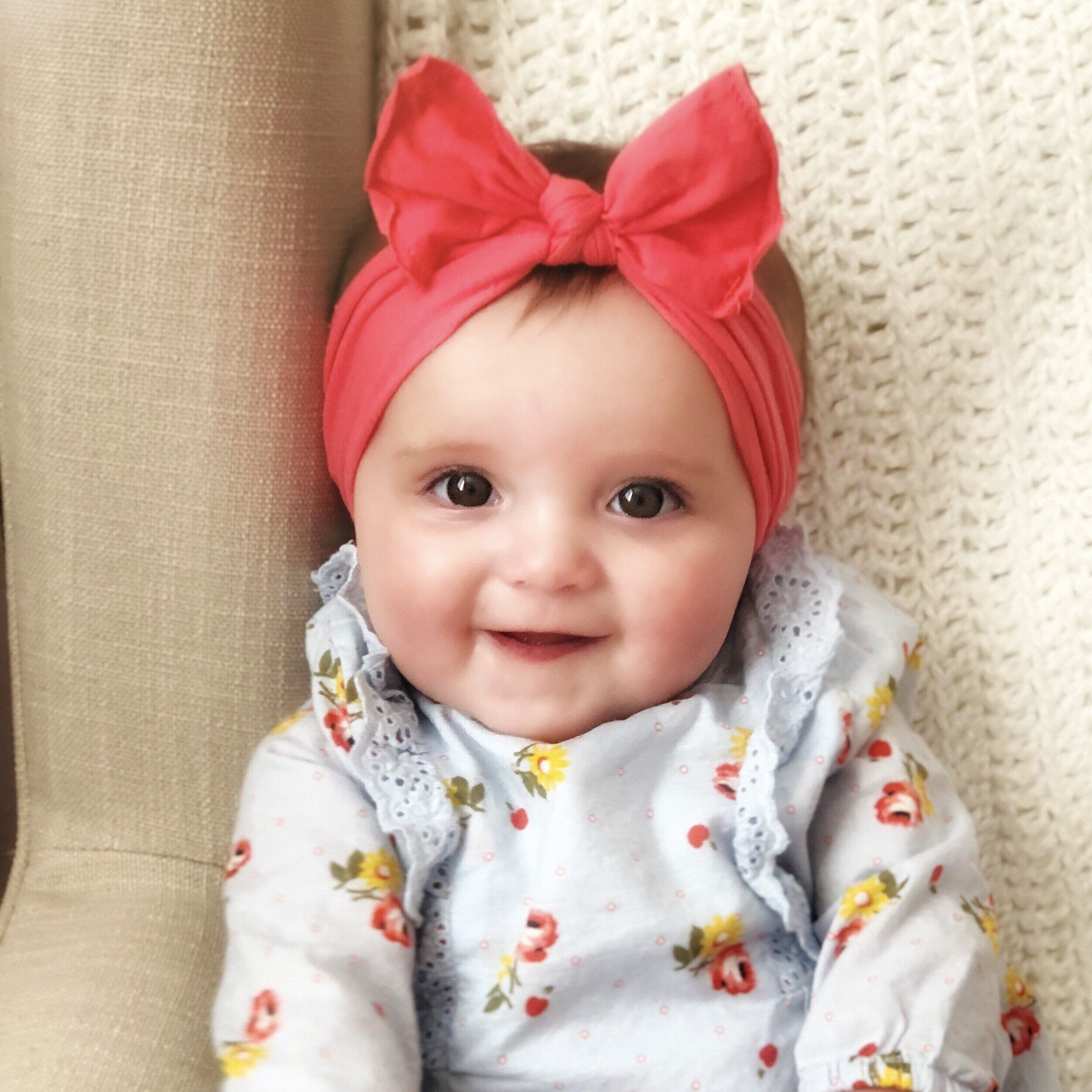 c9dc1154846 The cutest nylon headband for your sweet baby or little girl. These  headbands grow with baby and are the perfect accessory for any outfit.