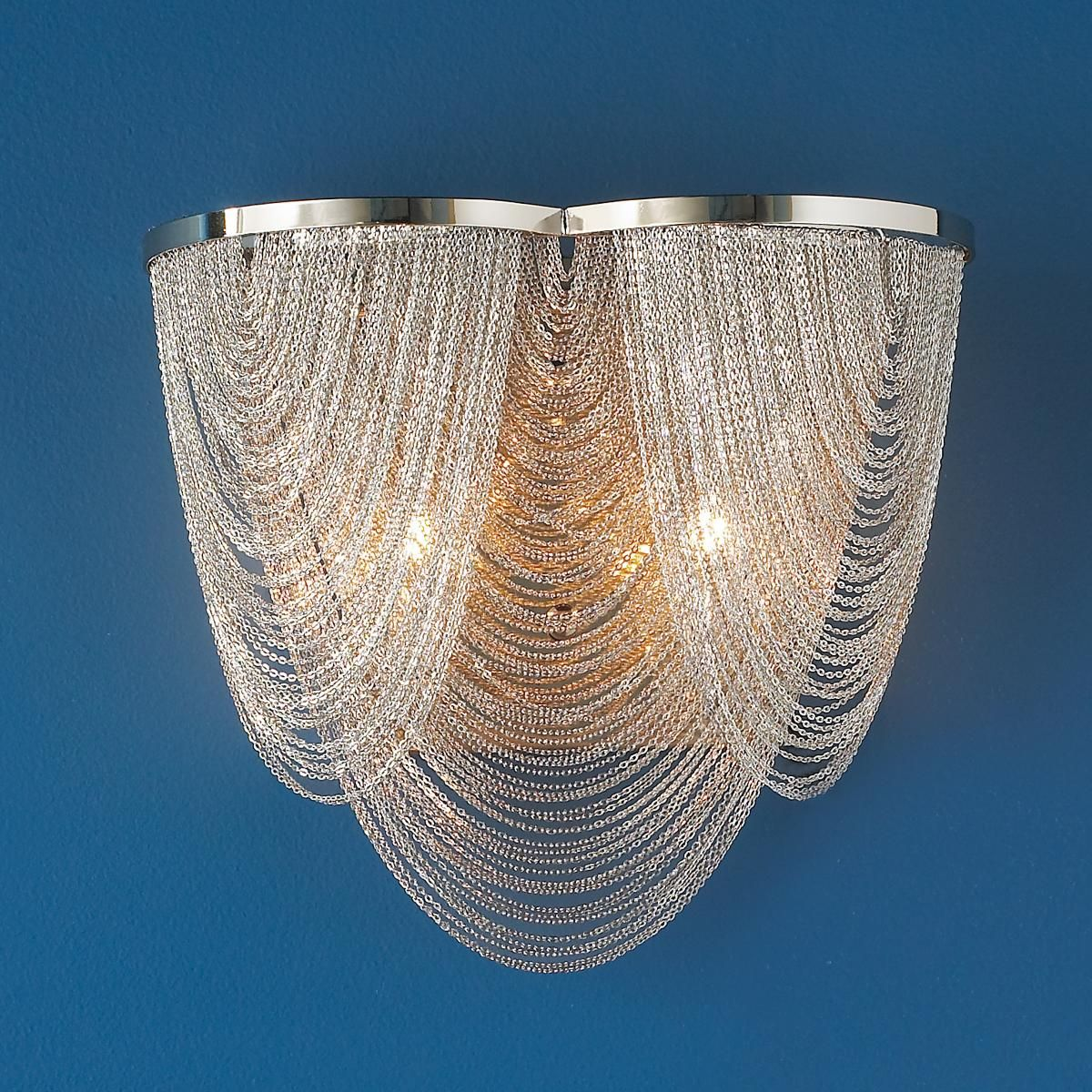 Draped Mesh Sconce Sconce Lamp Shade Sconce Shades Sconces