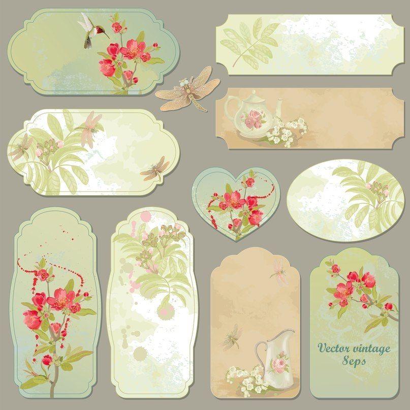 Заготовки декора для открыток