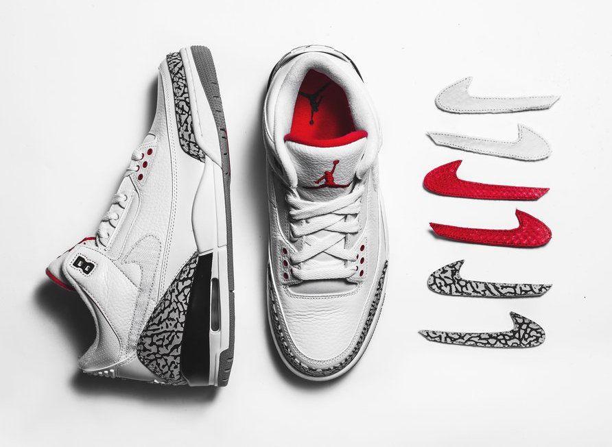 The Shoe Surgeon Air Jordan 3 JTH Swoosh Logos - Sneaker Bar Detroit ... 8f8158421