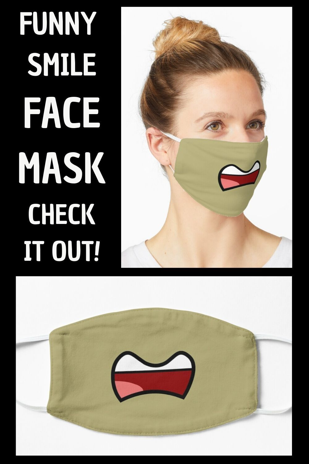 Funny Talking Mouth Mask By Aj Liber Funny Face Mask Face Mask Mask For Kids