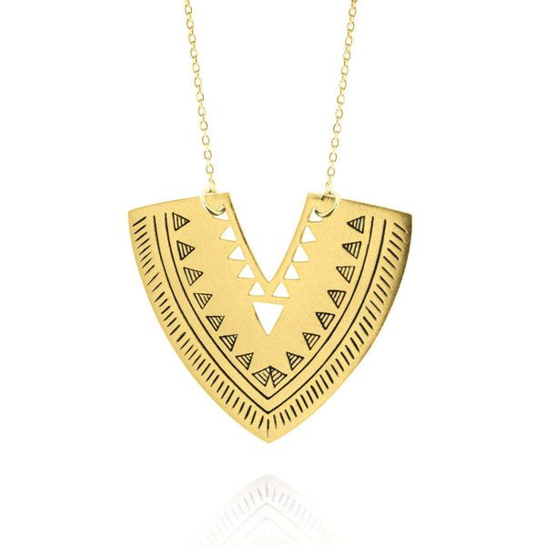 Warrior Pendant - Yellow Gold Plated Sterling Silver