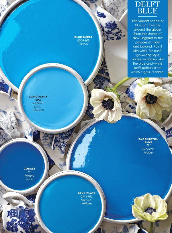 Ciao Newport Beach Color Inspiration Delft Blue Bright Blue Paint Paint Colors For Home Delft