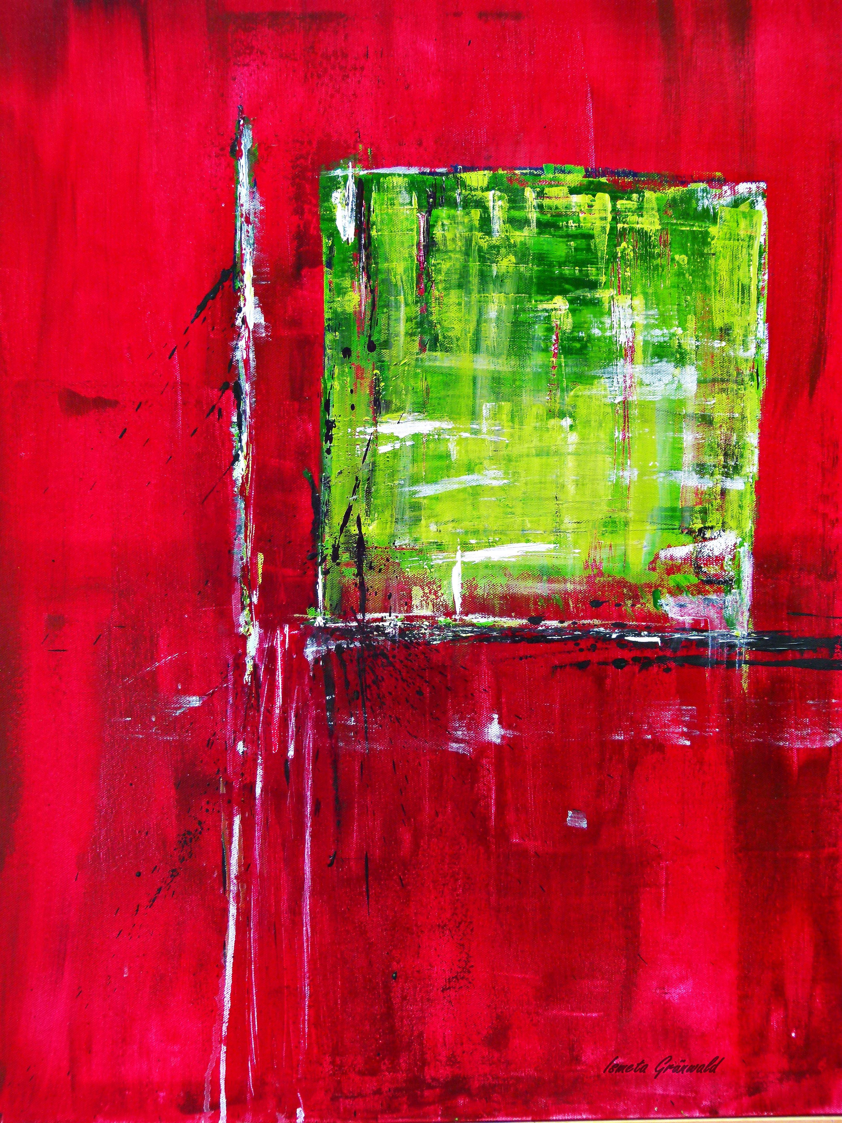 Red Green Abstract Art By Gruenwaldart Deviantart Com Abstract Buy Art Print Abstract Art