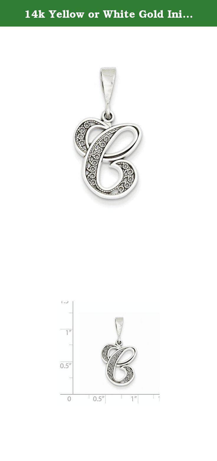 K yellow or white gold initial c charm item weight gm charm