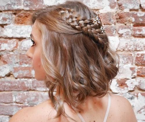 50 Hottest Prom Hairstyles For Short Hair Prom Hairstyles For Short Hair Cute Hairstyles For Medium Hair Braids For Short Hair