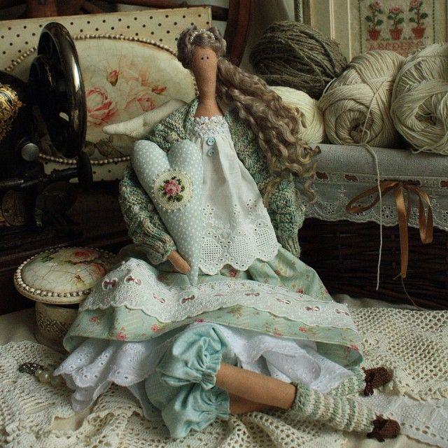 Нинетта #тильда #куклыручнойработы #роза #tilda #annysdolls