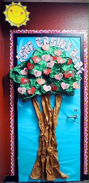 Puertas san valent n 9 cosas para mi sala pinterest for Puertas decoradas para 14 de febrero