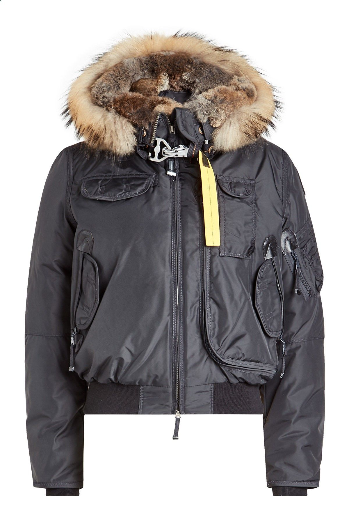 Gobi Down Bomber Jacket with Fur Trimmed Hood - Parajumpers