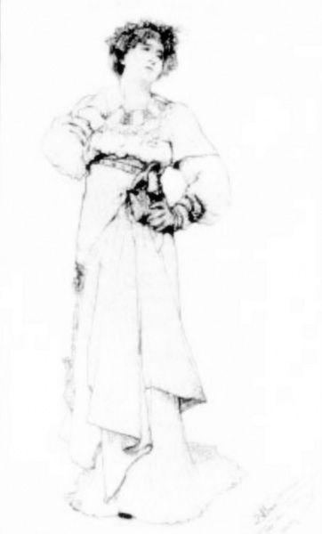 La actriz británica Ellen Terry (1847-1928) como Imogen