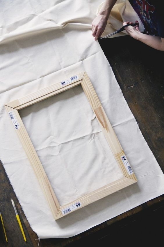 make how to stretch your own canvas for your next painting diy