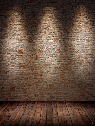 kate dark brick wall photography backdrop with floor light brown