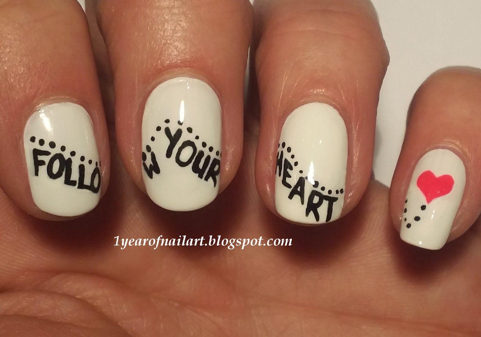 Valentine nails | Nail Art | Pinterest