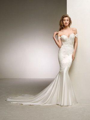 vestido para novia raso de seda - colección 2018 pronovias | boda