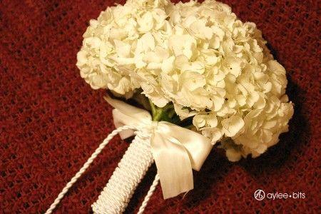 DIY hydrangea bouquet.