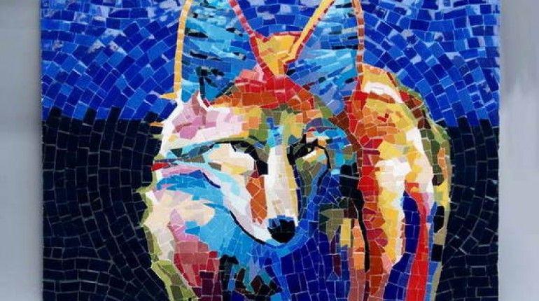 Minimalis Ceramic Mosaic Art Tile Custom Design And Bearings