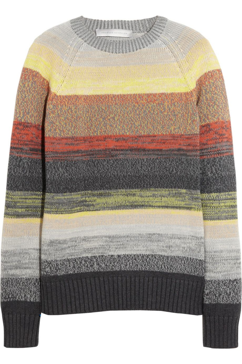 Proenza Schouler | Degradé-striped cotton sweater | NET-A-PORTER ...