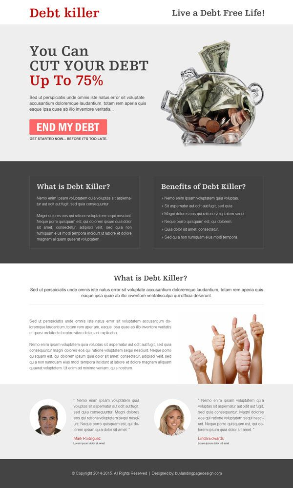 Browse All Static Debt Relief Landing Pages Here Https Www Buylandingpagedesign Com Landing Page Design Debt And Res Debt Relief Debt Relief Programs Debt