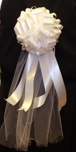 TULLE PEW BOW Wedding and Party aisle 6 alter or door decoration window