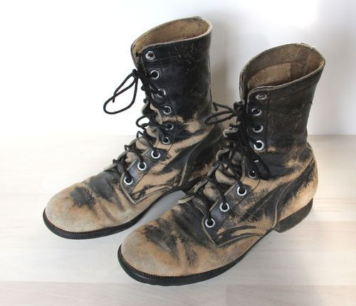 1960's Vintage Vietnam Military Jungle Boots - Black Mens Size 9 ...