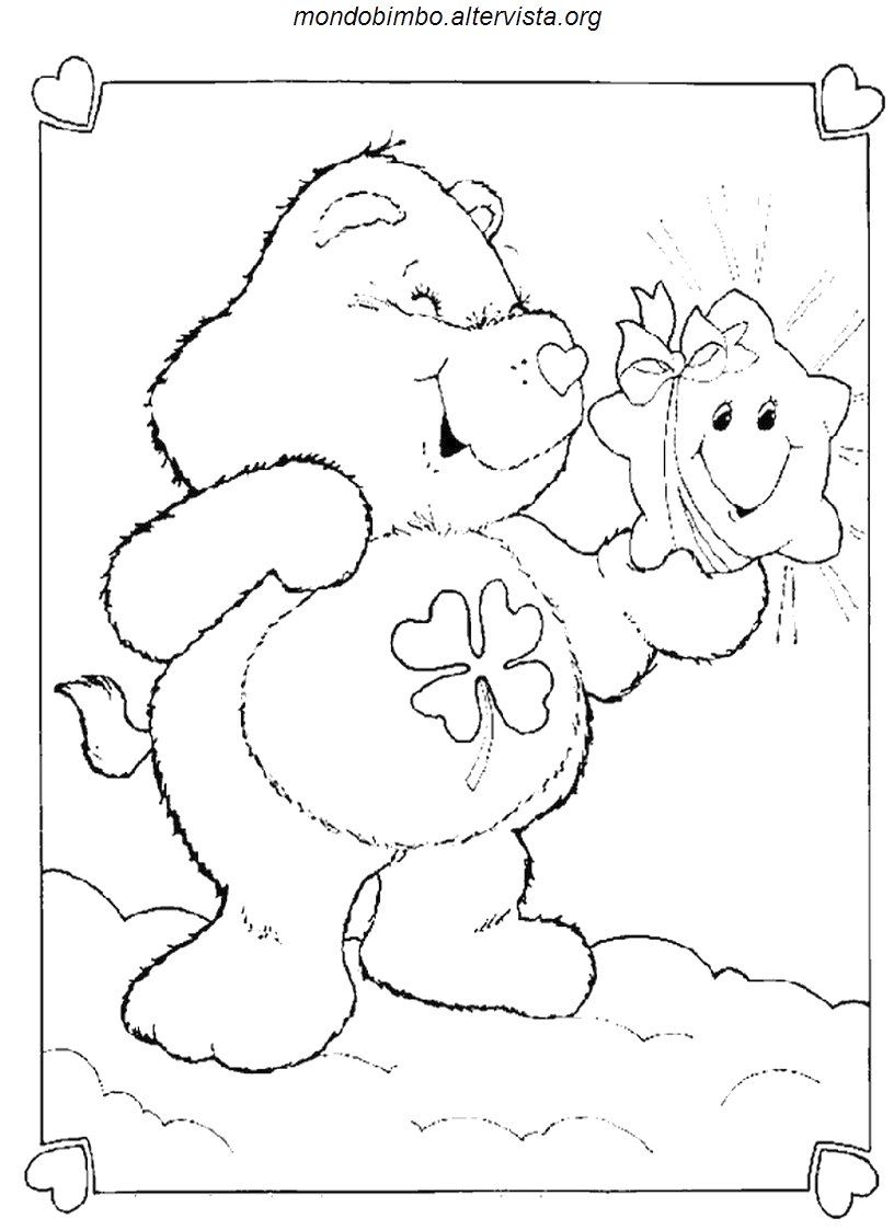 Book care coloring sheet - Care Bears Coloring Sheets Free