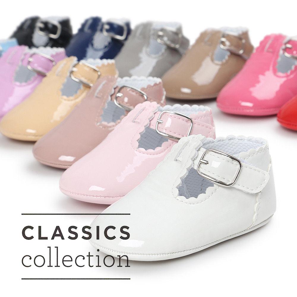 Zapatos de bebé, Koly ® Baby girl Flor patrón zapatos cuna suave suela (3, Rosa caliente)