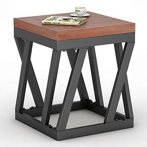 Tribesigns Rustic End Table, Vintage Chair Side Table Nightstand for Living Room, Bedroom, Entryway (Rustic)   - Best Outdoor Dining Sets Reviews -