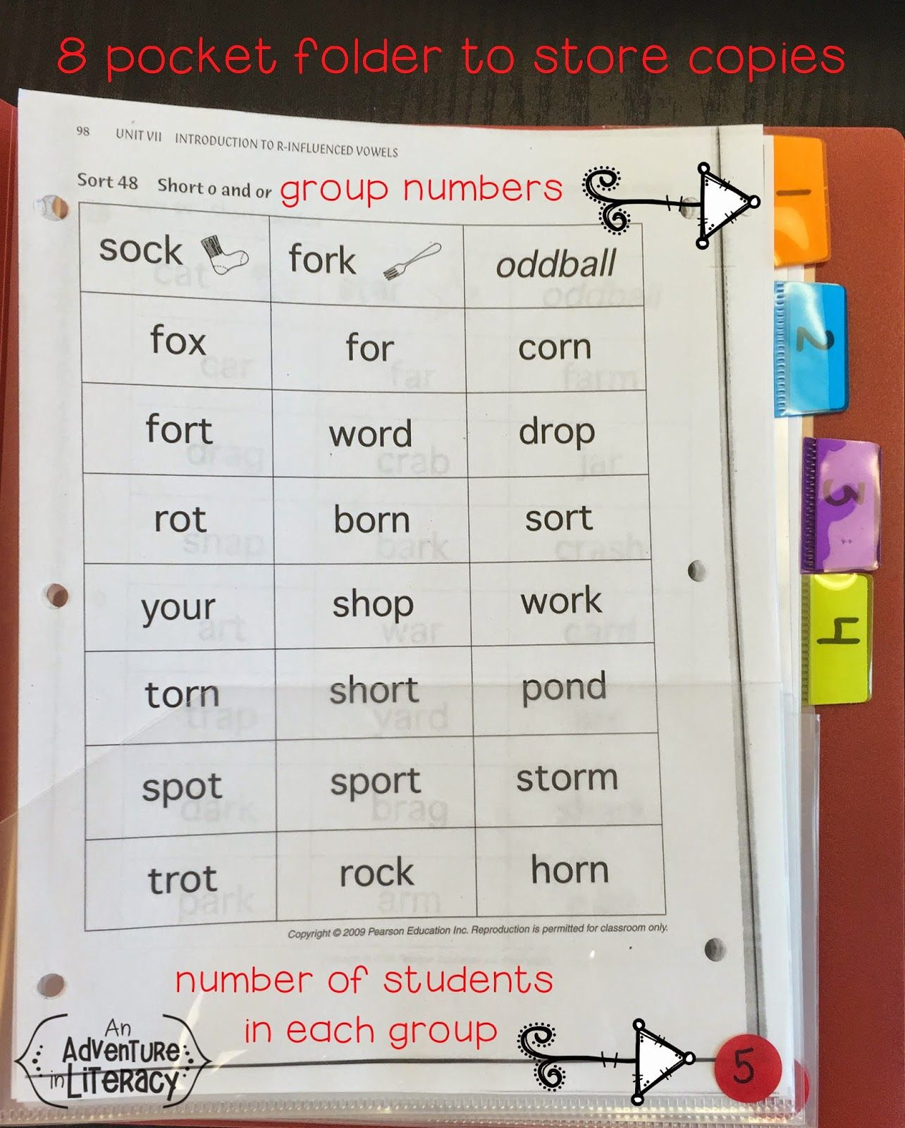 Organizing Words Their Way Materials