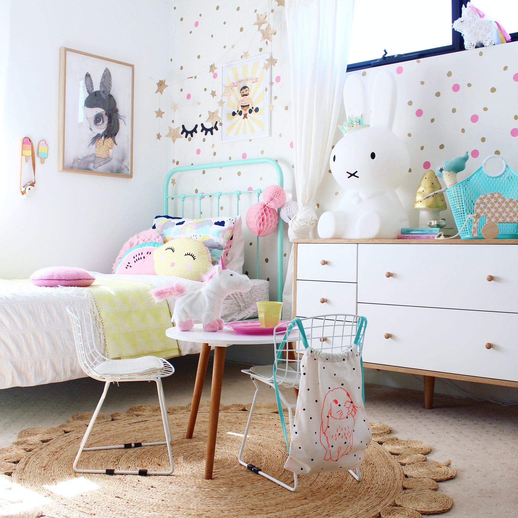 Girls Bedroom Paint Ideas Polka Dots vintage kids rooms - children's decor and interior design ideas