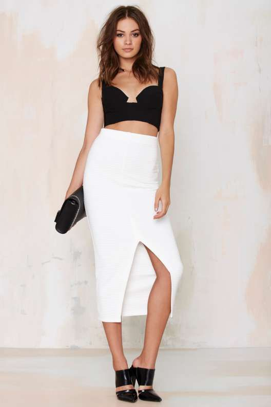 The Fifth Watchtower Ribbed Pencil Skirt