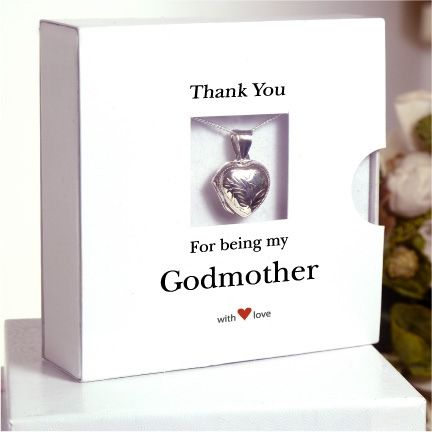 Sterling Silver Godmother Necklace - a wonderful thank you gift ...